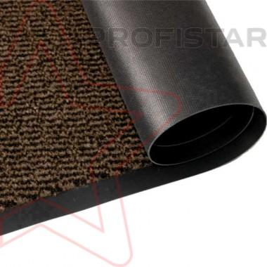 Грязезащитное влаговпитывающее рулонное покрытие Спектрум коричневого цвета