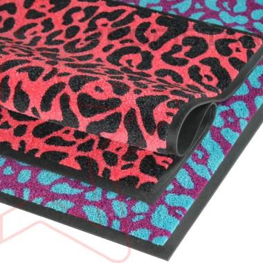 Придверный ковер на резине Профи стар Леопард