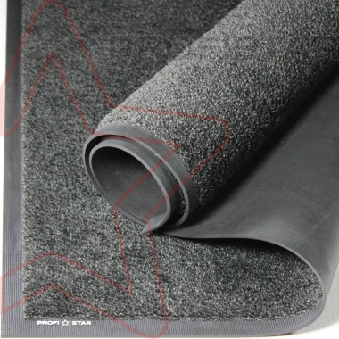 Износостойкий грязезащитный влаговпитывающий ковер Профи Стар цвета антрацит