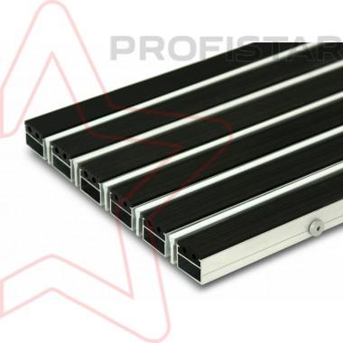 Грязезащитная алюминиевая решетка с резиной и дополнительным скребком