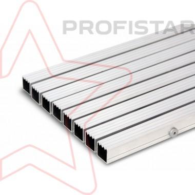 Грязезащитная алюминиевая решетка скребок, высотой 23 мм.