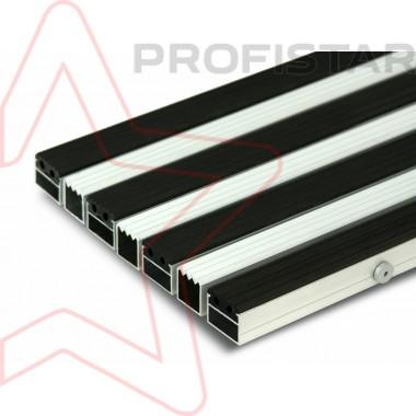 Грязезащитная алюминиевая решетка скребок + резина, высотой 23 мм.