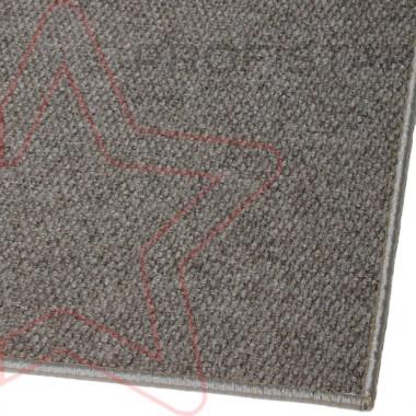 Грязезащитный ковер Super Star оверлок коричневый
