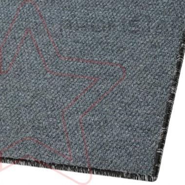 Грязезащитный ковер Super Star оверлок серый