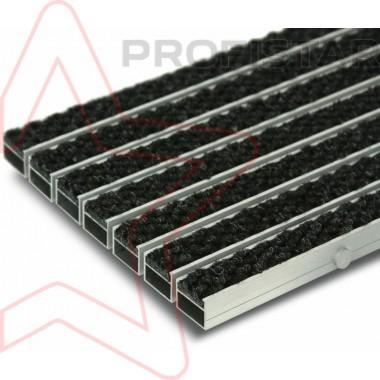 Грязезащитная алюминиевая решетка с ворсом