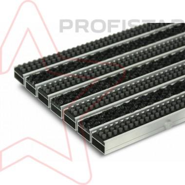 Грязезащитная алюминиевая решетка с ворсовыми вставками и щеткой