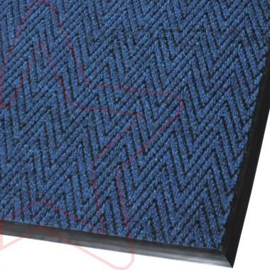 Грязезащитный  ковер Зип стар синего цвета