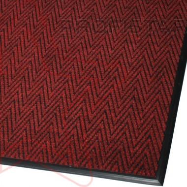 Грязезащитный  ковер Зип стар красного цвета